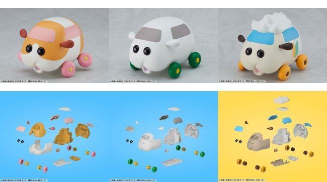 3PUIPUIプイプイモルカープラモデル「くみたてモルカー」予約・注文開始!グッズ(組み立て式プラスチックモデル)販売・通販